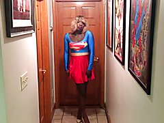 Superhero tranny supergirl part2  - clip # 02