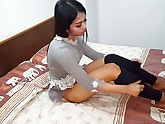 Hot teen ladyboy solo