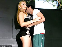 Blonde femboy gets her bubble ass licked and penetrated  - clip # 02