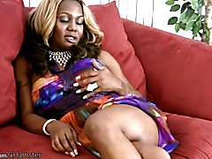 Chubby ebony doll with balls exposes bigtits and big shecock  - clip # 02