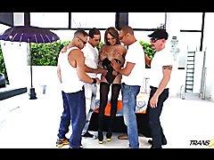 Gangbang fuckfest with TS Sofia Obregon