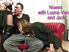 Tranny Art Two glamorous trannys and one straight guy threes  - clip # 06