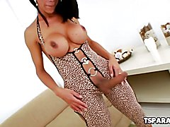 Sexy Latin Tgirl Sabrina Suzuki Fucks A Toy