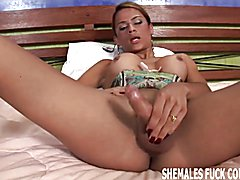 My girlfriend agreed to a threesome with a tranny  - clip # 02