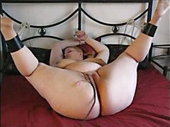 BBW Naked Tied Up To Bed