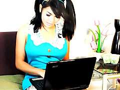Vitress Tamayo in Blue on her webcam!