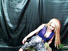 Karla Carrillo in tights.