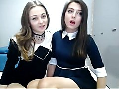 Cute couple has fun on cam.