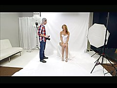 The classic scene of the photographer and the model