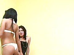 Hot Asian Shemale fucks hot girl!