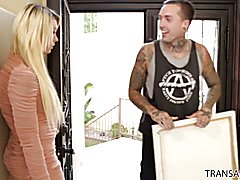 Tattooed guy fucks Aubrey Kate