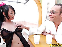 Bigtit latina tgirl assfucked in the jacuzzi