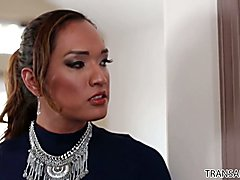 Chad Diamond spanked and fucked by TS Jessica Fox