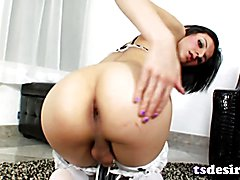 Trans Cutie Alisha T Playing With A Toy