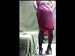 My new sexy dress.Take off pantes)