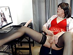 jack off and dildo session