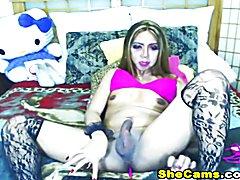 Slut Tranny Masturbate Hard on Cam