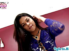 Stunning nubian shemale solo jerking off
