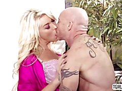 Aubrey & Chanel Fucking & Cumming On Buck Angel!