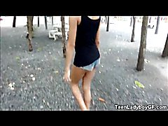 Teen Ladyboy GF At The Amusement Park!