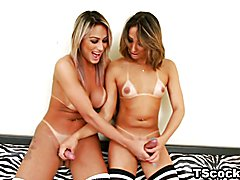 Juliana Souza and Bianca Hills ass-fuck each other
