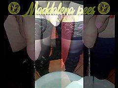 Maddalena Pees (at the toilet)