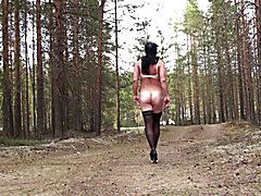 Walk naked on a forest road.