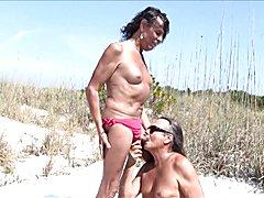 Jamie Sucks Michelle at the Beach !