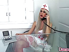 Evil Tranny Nurse Ass Fucks a Wimpy Guy