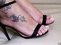TS Ms Cristina Shows off Sexy Feet
