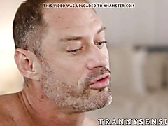 Fiery shemale Nikki Vicious gets hammered on all fours