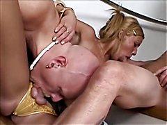 Azul Melina Fucked in Threesome