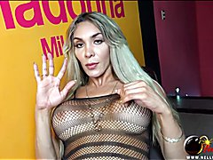 Hung Trans Nelly Ochoa in black panties