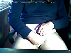 Dirty old Sissy-bitch swallows his own cum