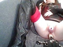 sissy cosplay dildo machine