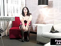 Fat femboy with sweet naturals in solo