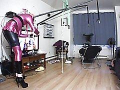 Sissy Self bondage suspension