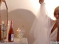 Nick Capra fucks the bride TS Aubrey Kate