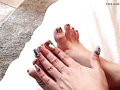 Korra Del Rio and her Pretty Shemale feet