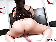 TS Hottie Ariane De Briho Enjoys Masturbating