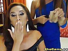 Horny Shemale Gets Her Ass Drilled on Cam