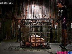 Jessica Fox Makes Corbin Dallas A Dungeon Anal Slave - See Full Video at ShemaleDream.Tube