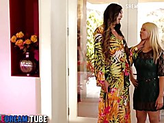 Asian Tranny Venus Lux Fucks A Blonde Milf's Pussy - Full Video at ShemaleDream.Tube