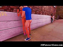 3D Futanari Street Whore