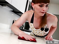 Ts housewife rimmed and slammed in the kitchen