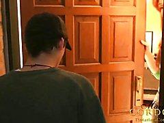 Mariana Cordoba sucked off by the mail man  - clip # 02