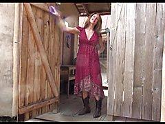 Wrap Dress & Cowboy Boots