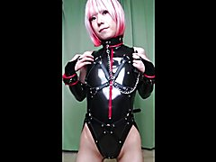 PVC bodysuit and body harness