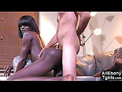 Ebony Teenager Trans Interracial Fuck!