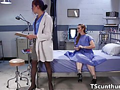 Cocksucked TS doctor cleansup pussy creampie  - clip # 02